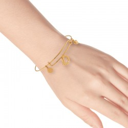Bronze and rubber bracelet